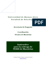 Instructivo Entrega Tesis Maestria