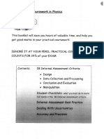 Practical Experiment Help Booklet