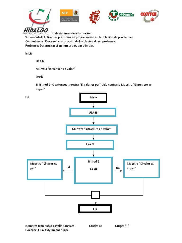 Pseudocodiodiagrama de flujo y prueba de escritorio ccuart Image collections