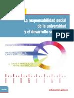 La Responsabilidad Social de La Universidad (RSU) y El Desarrollo Sostenible