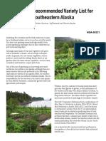 SE Alaska Recommended Varieties