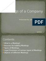 Meetings of a Company