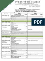 Date Sheet b.ab .Sc 2016