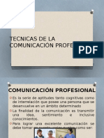 Tecnicas de La Comunicación Profesional