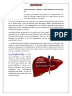 Complex Liver Transplantation Done by Dr. Naimish N. Mehta and His Team in 18 Hours, By Using Two Lobes of Liver