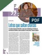 Letras que saltan charcos. Anabel Sáiz Ripoll en Colombia