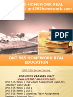QNT 565 HOMEWORK Real Education - Qnt565homework.com