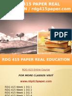 RDG 415 PAPER Real Education - Rdg415paper.com