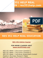 RES 351 HELP Real Education - Res351help.com