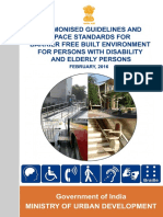 2016 MoUD Harmonised Guidelines on the Norms and Standards for Barrier Free Environment for Persons with Disability and Elderly Persons - Draft