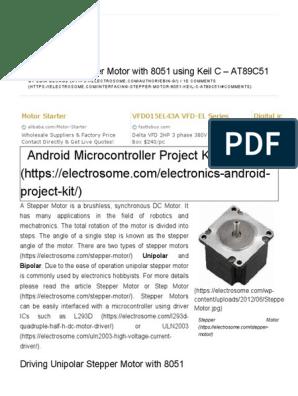 Stepper Motor Program In Embedded C
