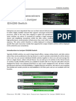 Fiber Optic Transceivers Supported for Juniper EX4200 Switch