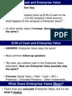 106 12 Cash Enterprise Value Impact