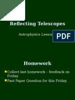Astrophysics 3 - Reflecting Telescopes.ppt