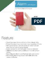 Portable GSM Alarm