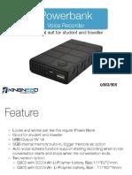 Power Bank Voice Recorder