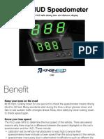 C60 GPS Head-Up Display Speedometer