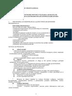 Curricula Instruire Privind Utilizarea Aparatelor, Dispozitivelor Si Instrumentelor Generatoare de Risc