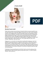 Biodata Lengkap Taylor Swift