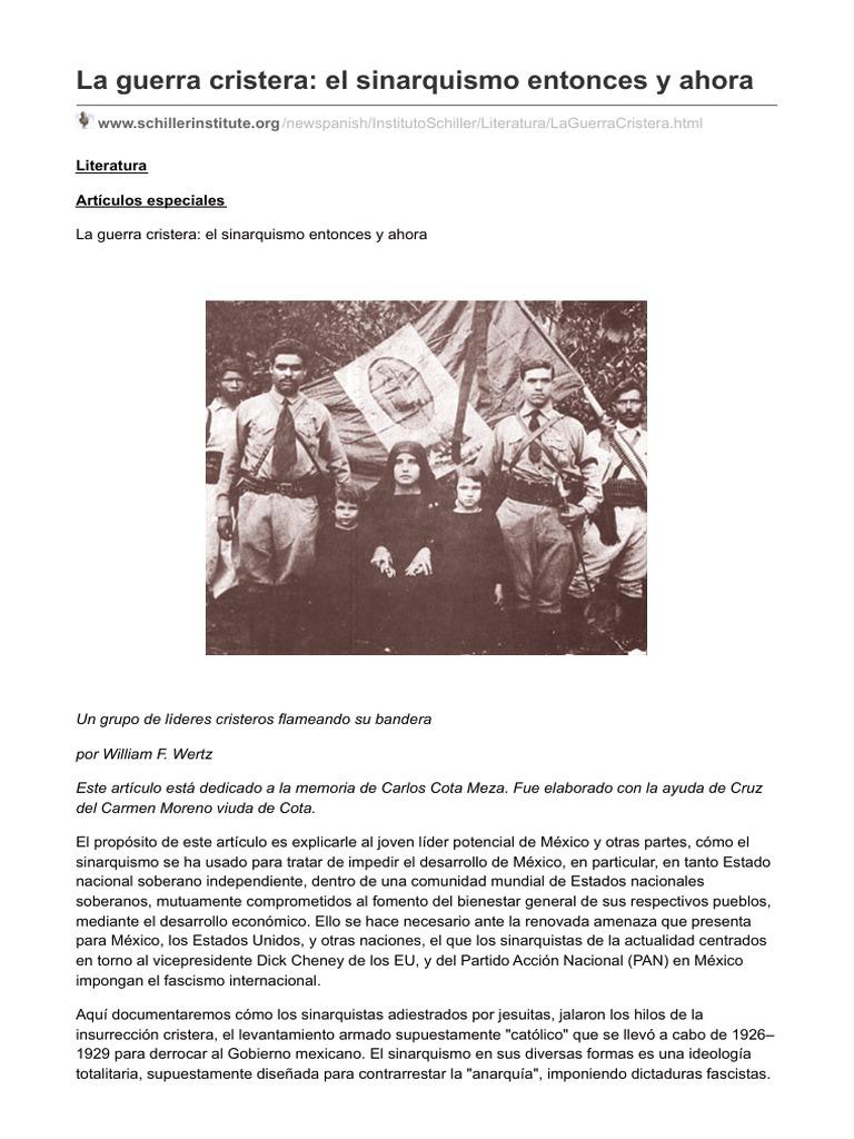 Schillerinstitute.org-La Guerra Cristera El Sinarquismo Entonces y Ahora