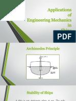 Engineering Mechanics in Ships