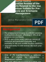 Journal Reading MgSO4