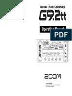 Zoog92tt Manual