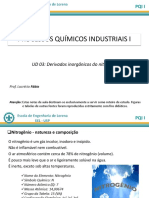 PQI I Aula3 Derivados Inorganicos Do Nitrogenio