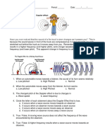 Doppler Effect Worksheet
