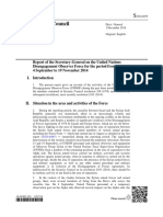 Report of the Secretary-General on the United Nations Disengagement Observer Force
