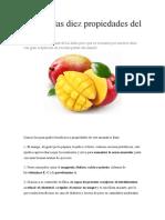 Conoce Las Diez Propiedades Del Mango