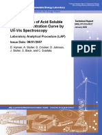 Determination of Acid Soluble Lignin Concentration Curve by UV-Vis Spectroscopy