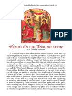 Homily on Annunciation