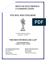 Microcontroller Lab Manual