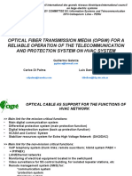 OPTICAL FIBER TRANSMISSION MEDIA (OPGW) FOR A RELIABLE OPERATION OF THE TELECOMMUNICATION AND PROTECTION SYSTEM ON HVAC SYSTEM