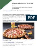Pizza Hut crée freakshow combo de pizza et des hot dogs