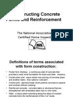 Constructing Concrete Forms Course