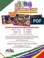 general summer camp flier
