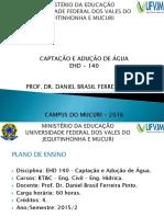 Aula 1 - Apresentação Do Plano de Ensino - EHD - 140