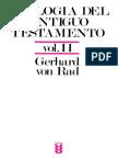 Gerhard Von Rad - Teología Del Antiguo Testamento Vol II
