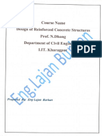 Design of Reinforced Concrete Course-Handbook-All Lectures, By