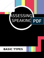 Assessing Speaking - Language Assessment