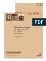 Efficacité Énergétique Dans Le Construction en Tunisie