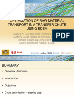 OPTIMIZATION OF RAW MATERIAL TRANSPORT IN A TRANSFER CHUTE USING EDEM
