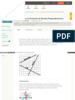 Encontrar La Ecuación de Rectas Perpendiculares