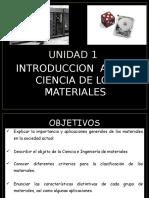 Ciencia de los materiales clase 1 -2015