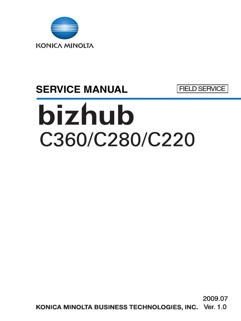 Konica Minolta Bizhub c220 c280 c360 Service Manual | Ac Power Plugs And  Sockets | Electrical Connector