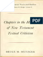 (NTTS 4) Bruce M. Metzger-Chapters in the History of New Testament Textual Criticism -Brill (1963)
