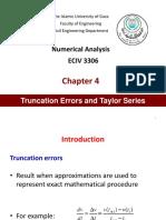 Ch4 Truncation Errors Taylor Series