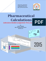 Pharmaceutical Calculations Lab 1